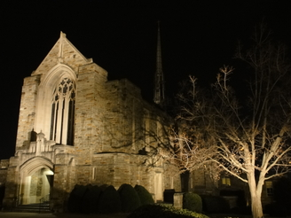 Immanuel Lutheran Church, Baltimore, Christian, French Gothic Architecture, lcms, christian worship, lutheran church, church at night